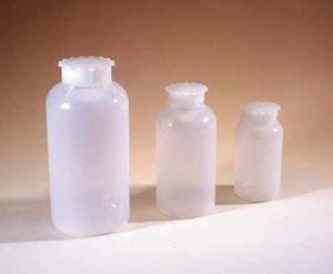 Plastik Taksimatlı Geniş Boyunlu Sızdırmaz Kapaklı Şişe, LDPE