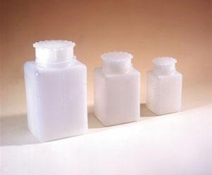 Plastik Taksimatlı Kare Sızdırmaz Kapaklı Şişe, HDPE